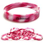 Custom Debossed with Color Filled Swirl Silicone Bracelet