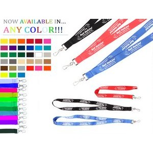3/4 Inch Custom Imprinted Screen Printed Polyester Lanyard with Attachment