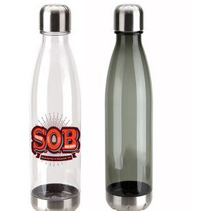 USA PRINTED 25 oz AS Plastic Bottle with Screw Top Cap