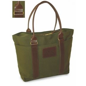 Medium Zippered Tote Canvas Bag