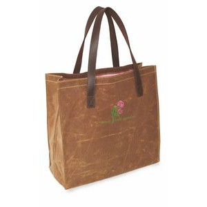 Waxed Canvas Leather Tote
