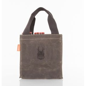 Waxed Canvas 6-Pack Beer Bottle Carrier Olive