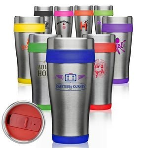 16 Oz. Insulated Two Tone Travel Tumbler