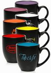 Custom 16 Oz. Two Tone Bistro Coffee Mugs