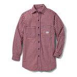 Custom Rasco Flame Resistant Plaid Dress Shirt (Red)