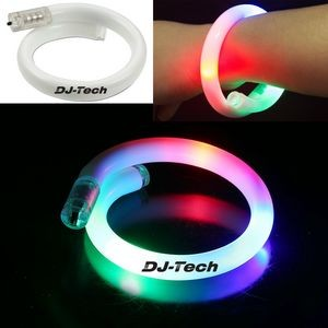 Flashing LED Tube Bracelet - Rainbow Light