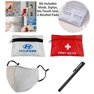 Back to Work Kit - Cotton Mask w/ Fliter, Stylus, No-Touch Tool, 2 Alcohol pads