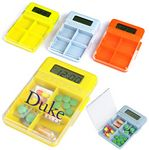 Custom Large 4 Compartment Digital Electronic Timer Pill Box