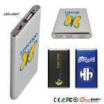 Custom Slim Portable Power Bank w/ LED Flashlight - 5600mAh