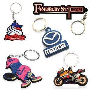 Customize Shape 3D PVC Key Chain