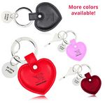 Custom Heart Shaped Leather Key Holder with metal Charm