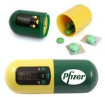 Custom Capsule Shaped Digital Electronic Timer Pill Box