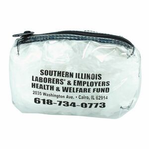 "Clear 19 Gauge Vinyl All Purpose Bag W/Gusset (6""x4""x2"")"