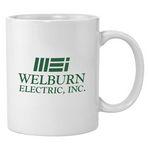 Custom 11 Oz. White Economy Ceramic Coffee Mug