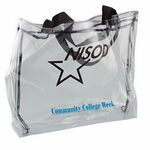Custom Clear Vinyl Tote Bag w/Gusset (13