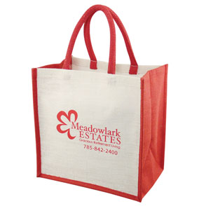 Custom Printed Jute Tote Bag