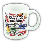 Custom 11 Oz. White Ceramic Mug w/4 Color Process