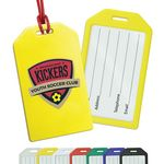 Custom Rigid Plastic Luggage Tag Holders with Full Color Imprint