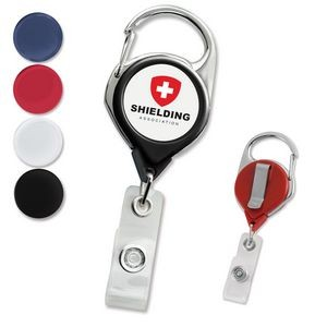 Premium Carabiner Custom Badge Reels with Belt Clip