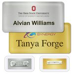 Custom DigiLine Metal Name Badges, magnet fastener, 3