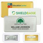 Custom DigiLine PVC Name Badges, pin fastener, 3