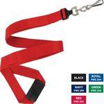 Custom Flat Polyester Lanyard w/ Safety Break-away - 5/8
