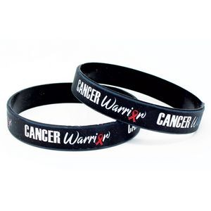 "1/2"" Silicone Color-filled Cancer Warrior Wristbands"