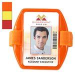 Custom Reflective Vertical Armband Badge Holders, 2.38