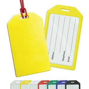 Rigid Plastic Luggage Tag Holders - Blank
