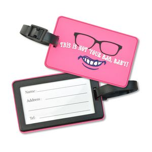 Soft PVC Luggage Tag Holders - Small