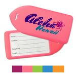 Custom Neon Custom Luggage Tags Holders with Full Color Imprint