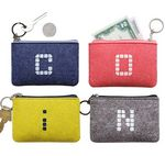 Custom Wool Felt Wallet with Key Ring