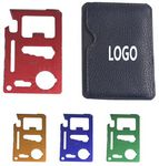 Custom Multifunction Survival Pocket Credit Card Tool w/ Protective Pouch