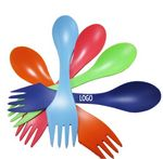 Custom 3 in 1 Multi-functional Plastic Sporks
