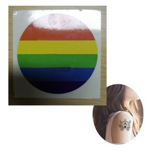 2.5 Inch Diameter Gay pride Temporary Tattoos