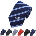 Custom Men's Solid Polyester Neck Tie