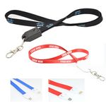 Custom Polyester Lanyard With USB Charging Cable