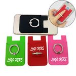 Custom Silicone Phone Wallet with Metal Ring Stand