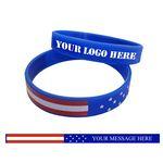 Custom American Flag Silicone Wristband / Bracelet