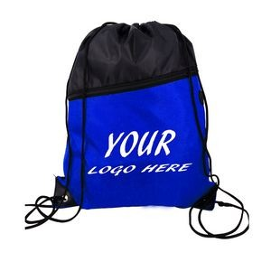 Two-Tone Color Drawstring Bag