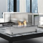 Custom Vision I Stainless Tabletop Fireplace Dipslay