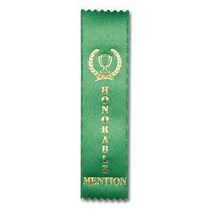Lt Blue Honorable Mention Satin Ribbon   Dinn Trophy   Honorable Mention Trophy