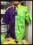 Custom Men's Mardi Gras Short Sleeve Fishing Shirt