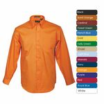 Custom Men's Long Sleeve 100 percent Cotton Premium Peach Twill Shirt