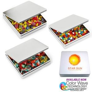 Square Hinged Tin Box filled Jelly Beans