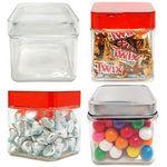 Custom Sleek Square Small Jar w/See Thru Lid - Empty