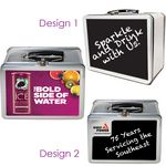 Custom Chalkboard Retro Lunch Box Tin