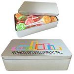 Custom Rectangle Sleek Tin Box - Empty