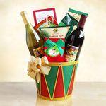 Custom Drummer Boy Holiday Wine Celebration