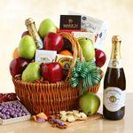 Custom Fresh Fruit Gourmet Picnic Gift Basket